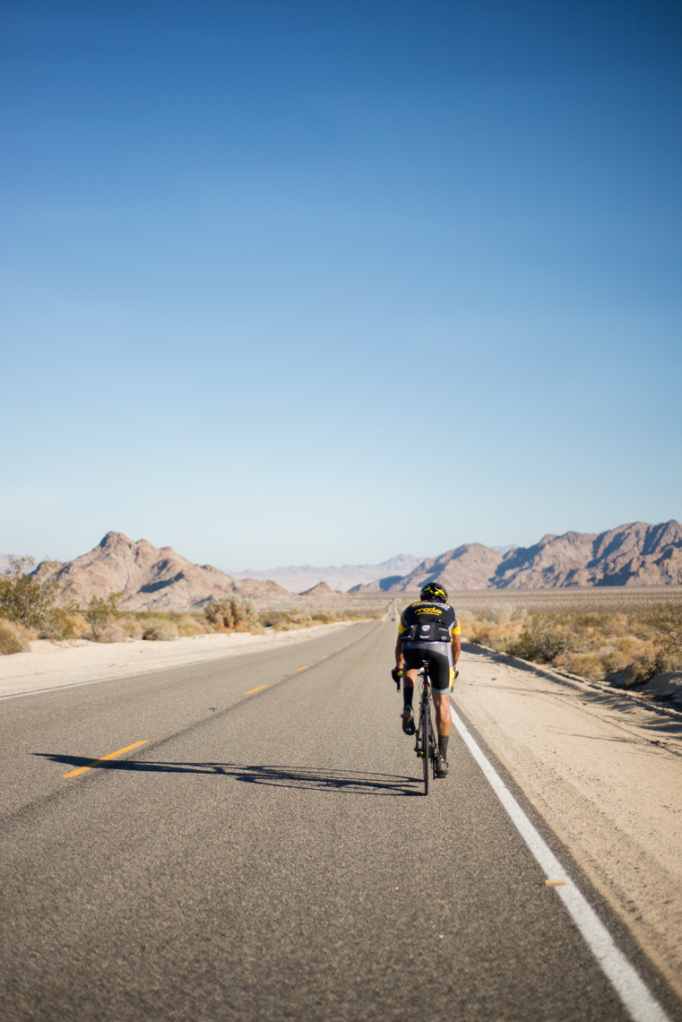 Riding a bike across the California desert