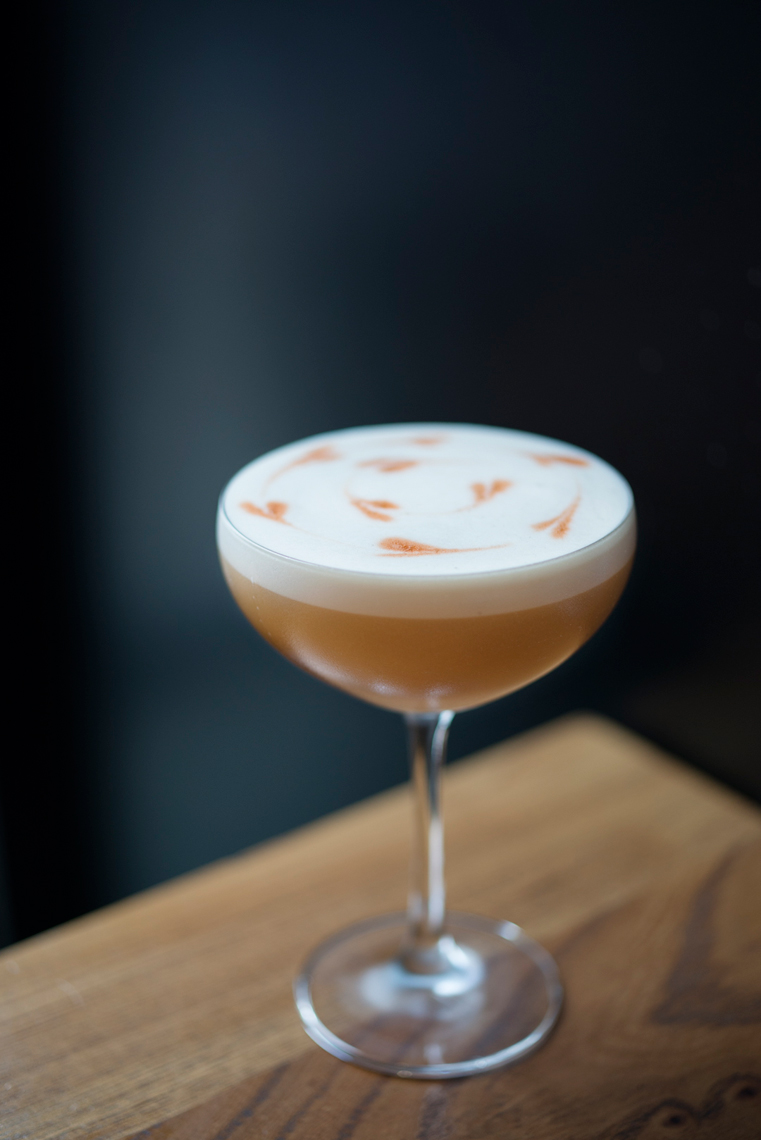 Cocktail with meringue served up