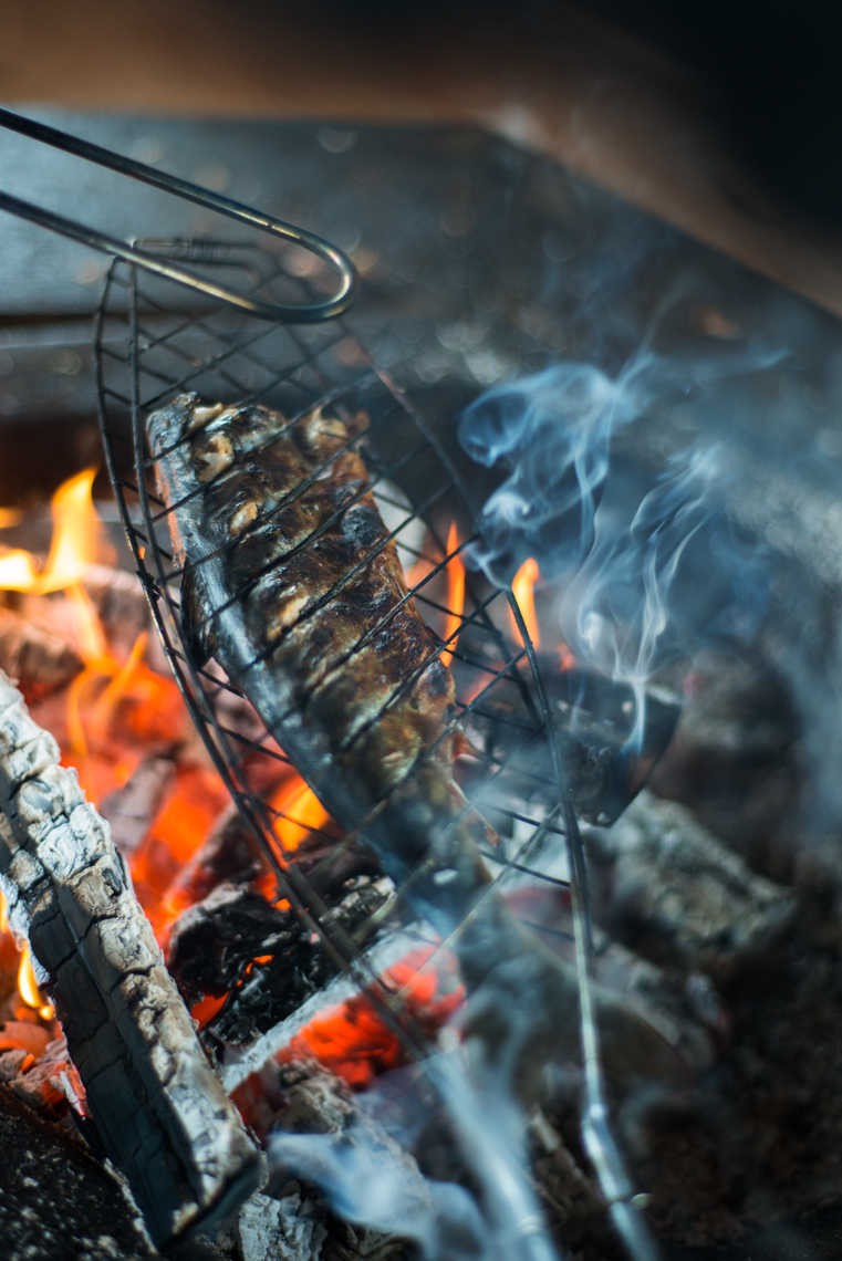 grilled arctic char makes a perfect wilderness meal
