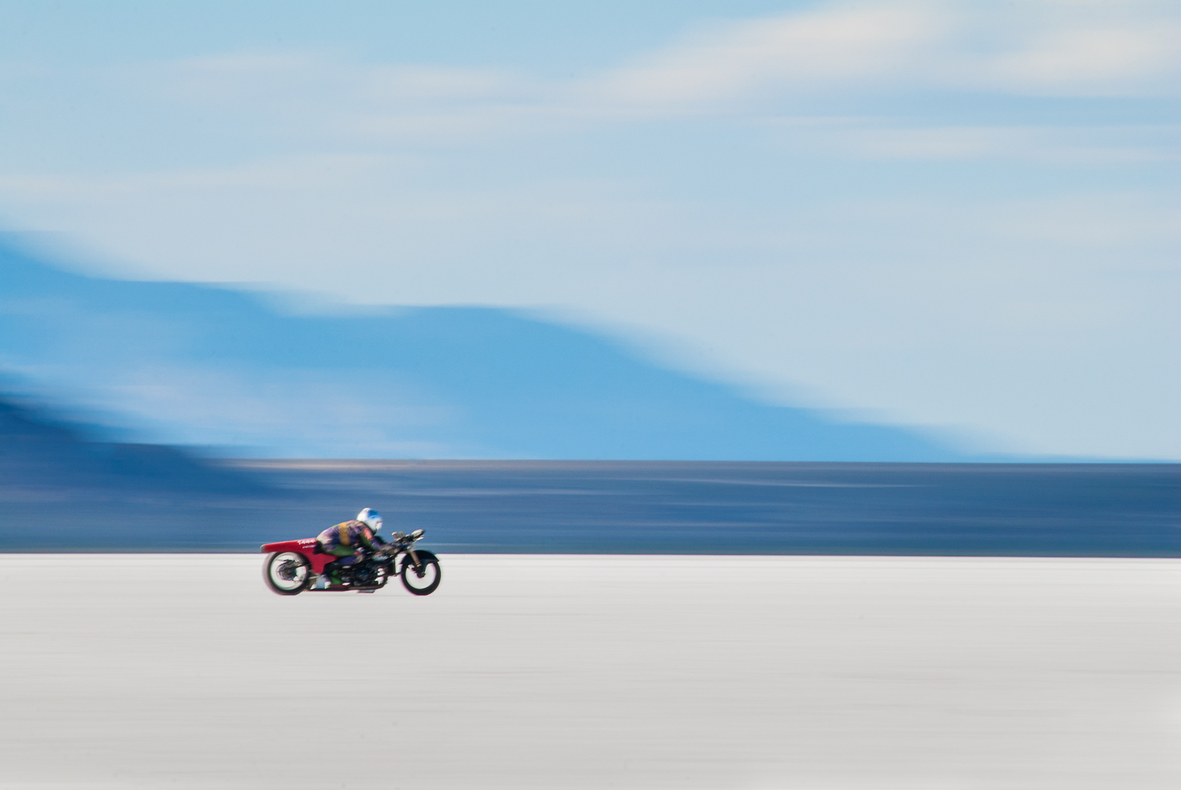 Bonneville motorcycle time trials