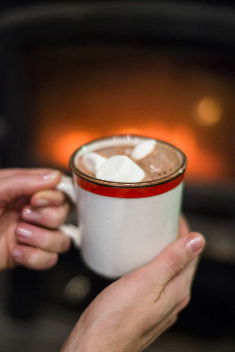 Hot cocoa by the fire