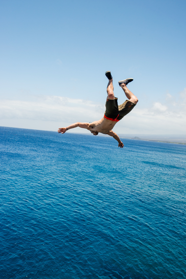 Cliff Jumping at End of the world