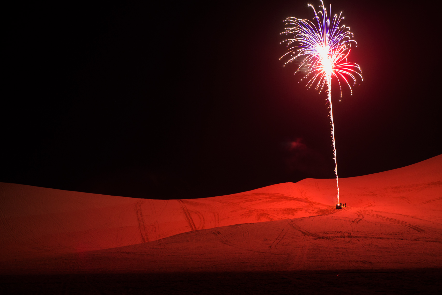 New Years Eve celebration at Dumont dunes