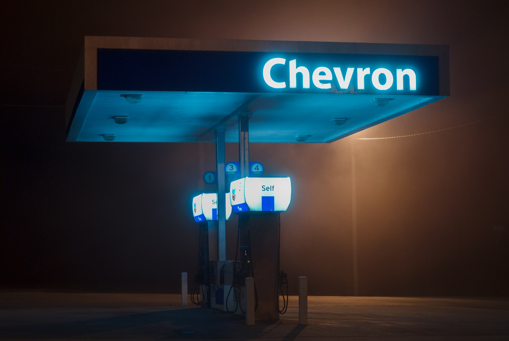Gas_Station at Night