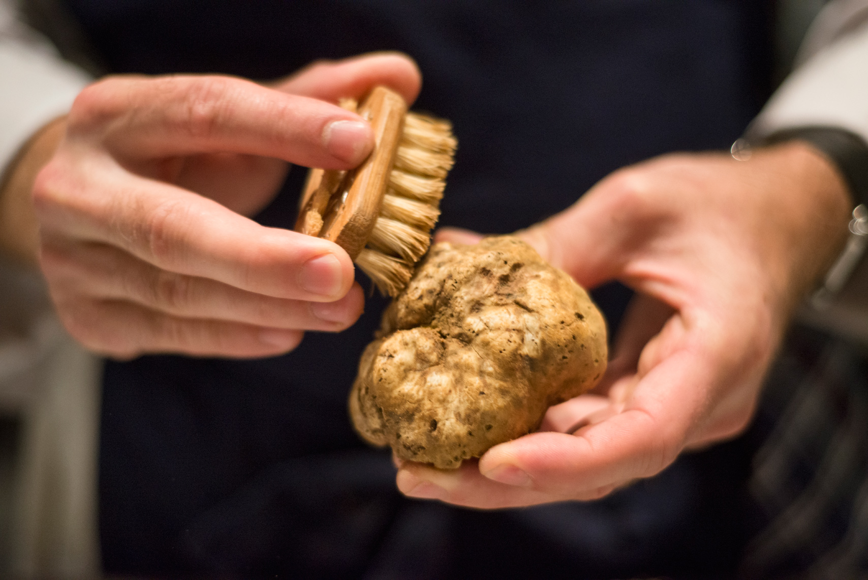 White truffle food prep