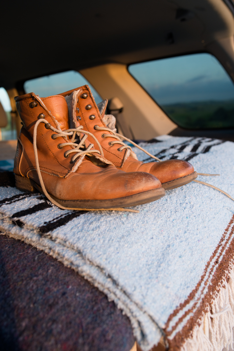 vanlife hiking leather boots