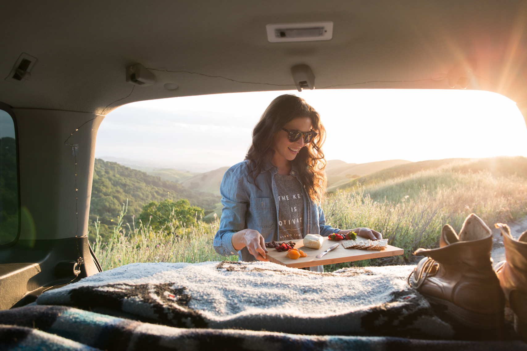 vanlife cheese board